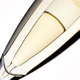 Champagne flutes. Drink glass bubbles stock photo