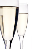 Champagne flutes. Celebration glass royalty free stock images