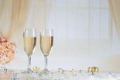Champagne Flutes Fotografia de Stock Royalty Free