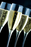 Champagne Flutes on Black Background Royalty Free Stock Photo