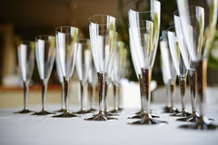 Champagne flutes Royalty Free Stock Photos