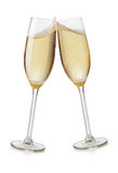 Champagne flutes toasting Royalty Free Stock Image