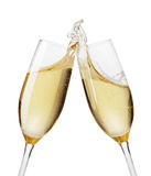 Champagne flutes toasting Stock Images