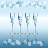 Champagne Flutes. Vector holiday background with Champagne Flutes Stock Photo