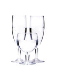 Champagne Flutes and water glass Stock Photo