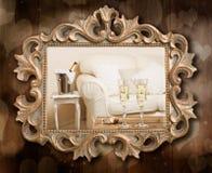 Champagne Frame Imagens de Stock
