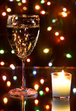 Champagne and garland Royalty Free Stock Photography