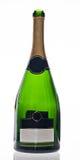 Champagne-geïsoleerde fles Stock Fotografie