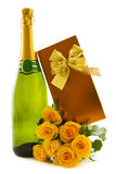 Champagne gift Stock Photography