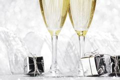 Champagne and gifts Stock Image