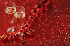 Champagne and gifts Royalty Free Stock Image