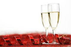 Champagne and gifts Royalty Free Stock Photo