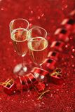 Champagne and gifts Stock Photography