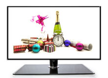 Champagne and Gifts Stock Photo