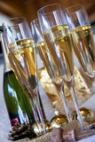 Champagne-Gläser Stockfotos