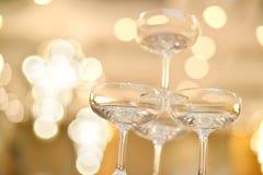 Champagne-Gläser lizenzfreies stockbild