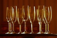 Champagne-Gläser auf Tabelle Lizenzfreie Stockfotografie