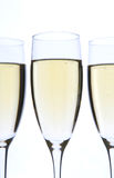 Champagne-Gläser schließen oben Lizenzfreie Stockfotos