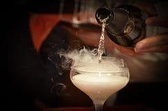 Champagne glück hochzeit Lizenzfreies Stockbild