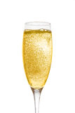 Champagne in glas Stock Afbeelding