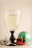 Champagne glas-2 van Kerstmis Stock Fotografie