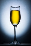 Champagne-Glas hintergrundbeleuchtet lizenzfreies stockfoto