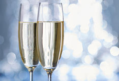 Champagne glas white fun new year Stock Photo