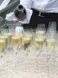 Champagne in glasglazen Royalty-vrije Stock Afbeelding