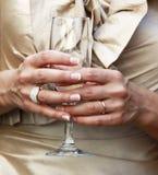 champagne glass 免版税库存图片