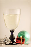 Champagne glass-2 di natale Fotografia Stock