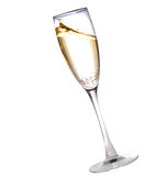 Champagne glass. Isolated on white Royalty Free Stock Images