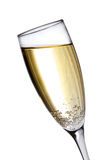 Champagne glass. Full of bubbly isolated on white Stock Images