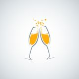 Champagne glass background Royalty Free Stock Image