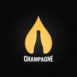 Champagne glass bottle drop background Stock Photos