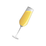 champagne  glass and  champagne, Vector Royalty Free Stock Photography