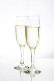 Champagne glass cups Stock Images