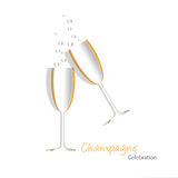 Champagne glass cutout Royalty Free Stock Images