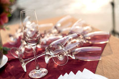 Champagne glass Stock Images