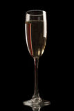 Champagne glass isolated on black Stock Photo