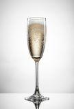 Champagne in glass isolated on white Royalty Free Stock Photo