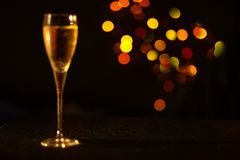 Champagne in the glass stock image