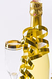 Champagne, glass, New Year's Eve. And karnaval Royalty Free Stock Image