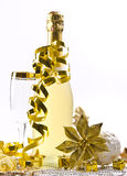Champagne, glass, New Year's Eve Stock Photo
