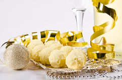 Champagne, glass, New Year's Eve Stock Image