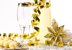 Champagne, glass, New Year's Eve Stock Photography