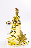 Champagne, glass, New Year's Eve. And karnaval Royalty Free Stock Photography