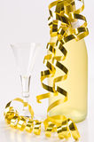 Champagne, glass, New Year's Eve Royalty Free Stock Photos