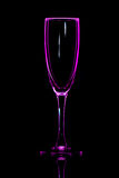 Champagne glass pink Stock Photography