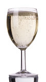 Champagne into a glass Stock Image