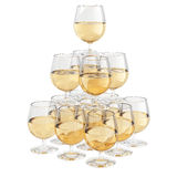 Champagne glass pyramid Stock Images